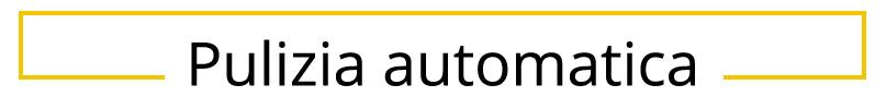 Pulizia automatica